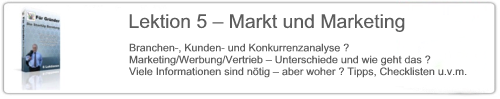 Lektion 5 – Markt und Marketing