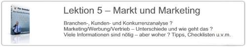 Lektion 5 – Markt und Marketing