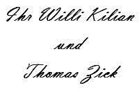 Willi Kilian und Thomas Zick